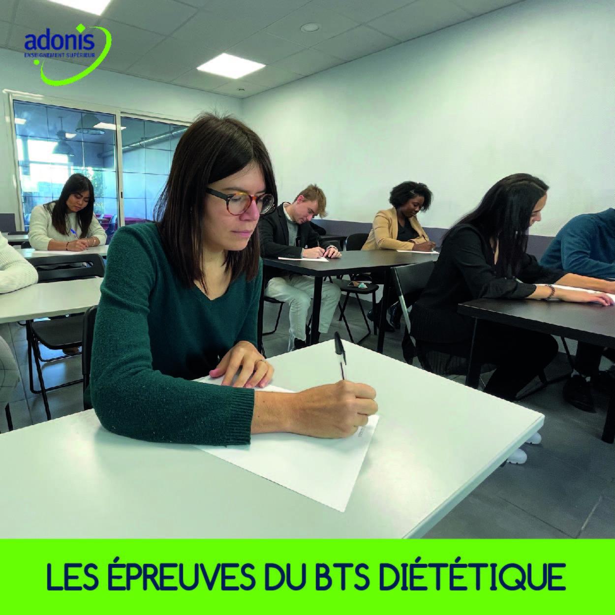 épreuves examen BTS diététique