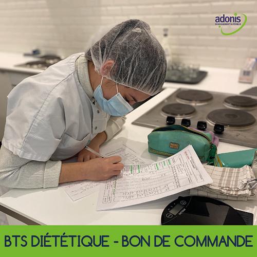 BTS diététique - cuisine - bon de commande - astuce