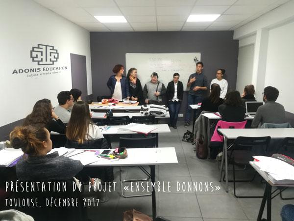 "Action solidaire ""Ensemble Donnons"" Adonis Social"