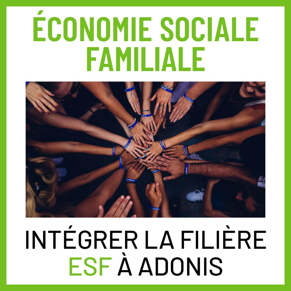 BTS ESF filière sociale ADONIS
